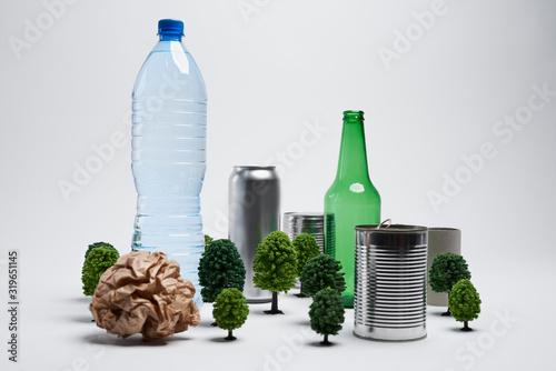 Fototapeta Creative concept of recycling garbage obraz