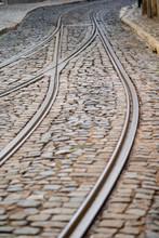 Streetcar Tram Tracks On The C...