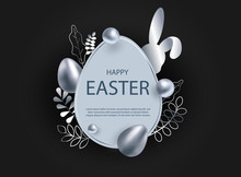 Silver Easter Egg With Decorat...