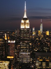 View Of Illuminated Cityscape With Empire State Building At Night
