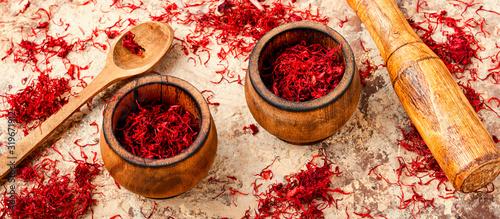 Fototapeta Dried saffron spice obraz