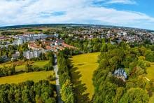 Ausblick Auf Augsburg-Haunstetten Aus östlicher Richtung