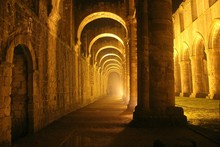 Corridor Of Fountains Abbey At...