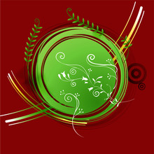 Astratto Con Piante Verdi