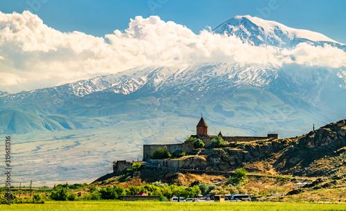 Leinwand Poster Khor Virap Monastery in Armenia