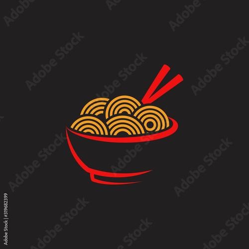 Noodles food sign symbol illustration