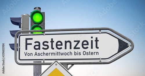 Wegweiser Fastenzeit, Von Aschermittwoch bis Ostern Wallpaper Mural