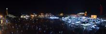 Place Jemaa El-Fna Au Maroc La Nuit