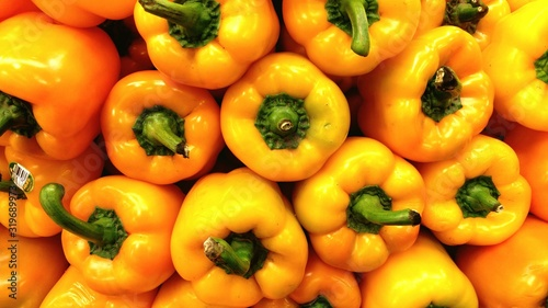 Canvas-taulu Detail Shot Of Bell Peppers