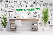 Nachhaltigkeit Konzept Mit Slo...