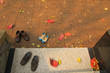 High Angle View Of Shoes On Steps