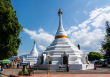 Wat Phra That Doi Kong Mu  This Is One Of The Most Popular Landmark And Tourist Attractions Of Mae Hong Son Province, Thailand.