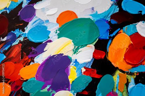 Arrière plan tâches de peinture couleurs vives Tapéta, Fotótapéta