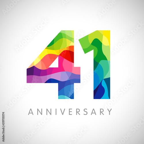 Fotografia 41 st anniversary numbers