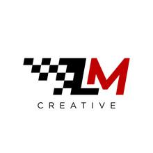 Lm Race Logo Design Vector Icon