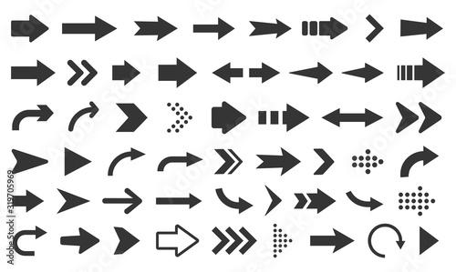 Fotografía Arrow icon. Mega set of vector arrows