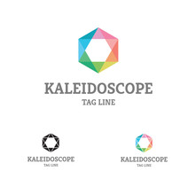 Kaleidoscope Comb Logo  Flat Design Of Logo, With Colorful Kaleidoscope Palette, Could Be Used In Many Different Categories, Any Company Or Organization.