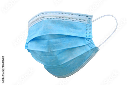 Fotomural Doctor mask and corona virus protection isolated on a white background