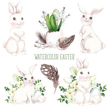 Watercolor Easter Illustration...