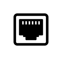 Lan Connector (plug) Vector Icon Illustration