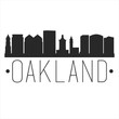 Oakland California. City Skyline. Silhouette City. Design Vector. Famous Monuments.