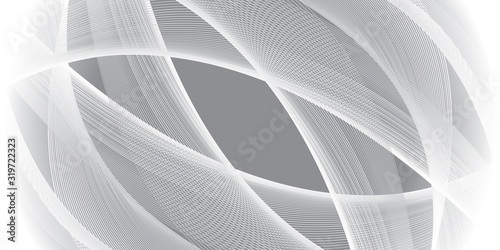 Abstract motion wave gray background Wallpaper Mural