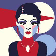 Fashion Woman Portait Art Deco...