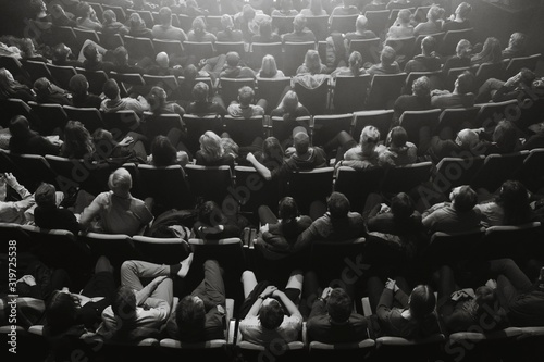 High Angle View Of Audience In Theater Fotobehang