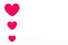 Love Hearts Shape On White Bac...