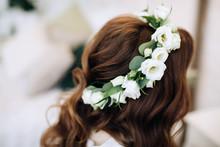 Wedding Wreath Of White Flowe...