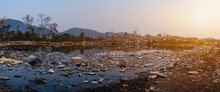 Polluted Water And Mountain La...
