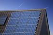 Leinwanddruck Bild Solardach (Photovoltaikanlage)