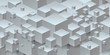 3d isometric cube gray background