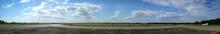 Berlin Tempelhof Airport Against Blue Cloudy Sky