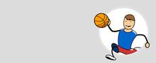 Schneller Basketballer Und Spo...
