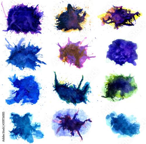 Colorful splatters art Canvas Print