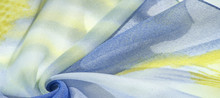 Silk Fabric Of Pale Blue, Yell...