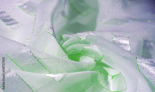texture, background, pattern, postcard, silk fabric with metal square platinum i Canvas Print