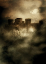 Medieval Fortress In The Fog