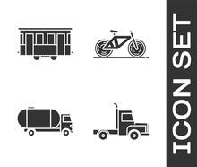 Set Delivery Cargo Truck Vehic...