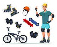 Roller Skater Protection Gear ...