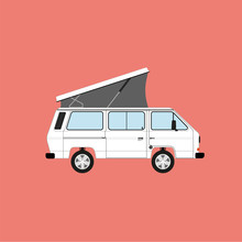 Volkswagen Transporter T3. Camper Van. Travelling By Car. Vanlife.