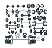 Assorted Gym Weight Lift Barbe...