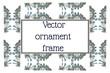 rectangular frame etnic ornament