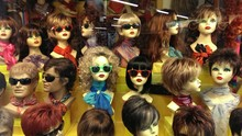 Close-Up Of Mannequins Wearing Sunglasses