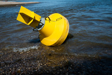 Yellow Anchor Buoy On Drought ...