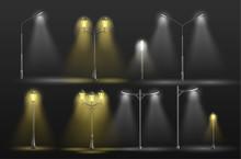 Retro And Modern Street Lamppo...
