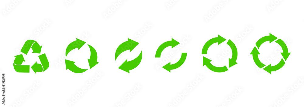 Fototapeta Recycle icon. Recycle vector symbols. Vector illustration