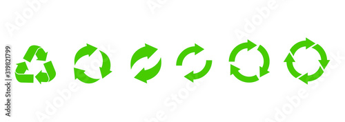 Fototapeta Recycle icon. Recycle vector symbols. Vector illustration obraz