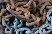 Rusty Weathered Chain Links